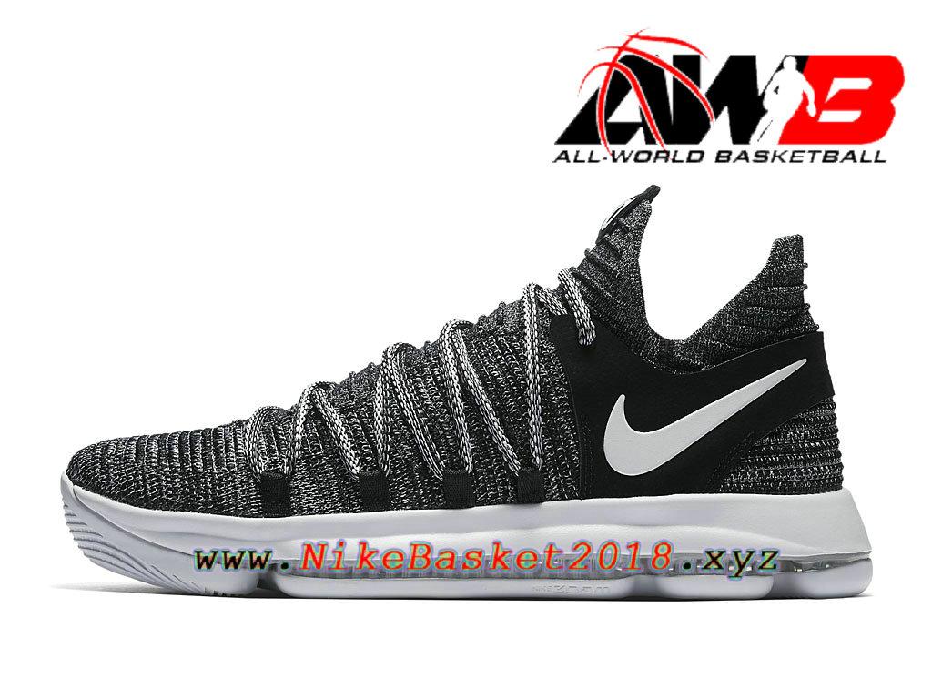 1c4d0d8ce56a5 ... low price chaussure de basketball pas cher pour homme nike kd 10 oreo  897815001 623f5 53ccc