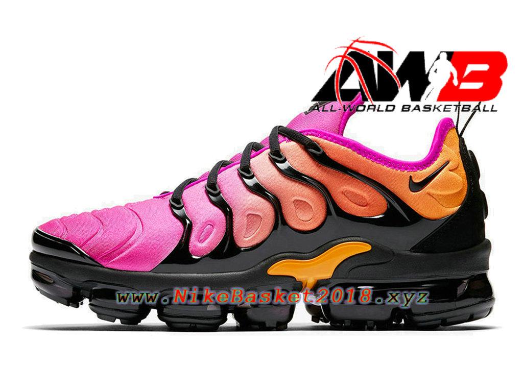 Chaussures de BasketBall Pas Cher Pour Femme Enfant Nike WMNS Air VaporMax  Plus 2018 Rose ... 0a0bb94313c4