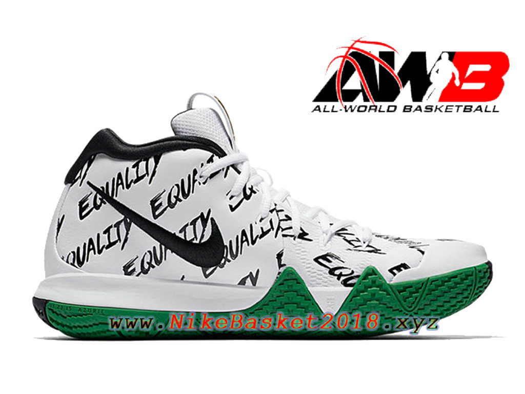 reputable site 45ad7 08297 Chaussures de BasketBall Pas Cher Pour Homme Nike Kyrie 4 BHM Blanc Vert  AO3167-900 ...