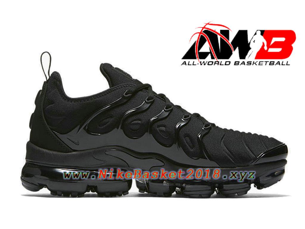 90721a8b4cf Chaussures Nike Basket Pas Cher Pour Femme Enfant Nike Wmns Air Vapormax  Plus 2018 Noir ...