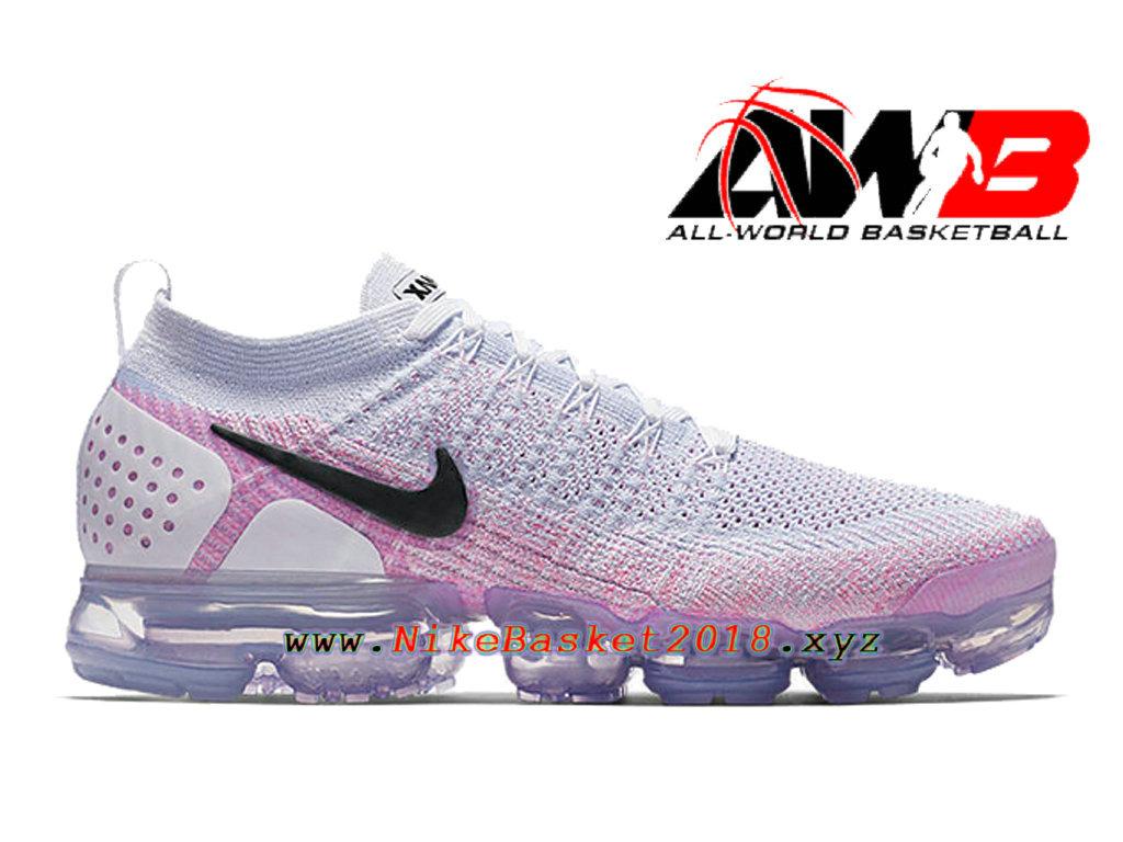 f3d9263c19de8 Chaussures Officiel 2018 Pas Cher Pour Homme Nike Air VaporMax Flyknit 2.0  Rose Blanc 942842- ...